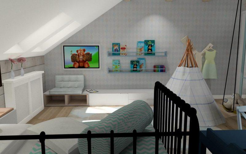 2 studiodecor pokój dziecka poddasze